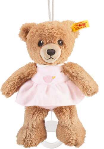 STEIFF Schlaf Gut Bär mit Kleid Spieluhr rosa 20 cm  NEU 239540