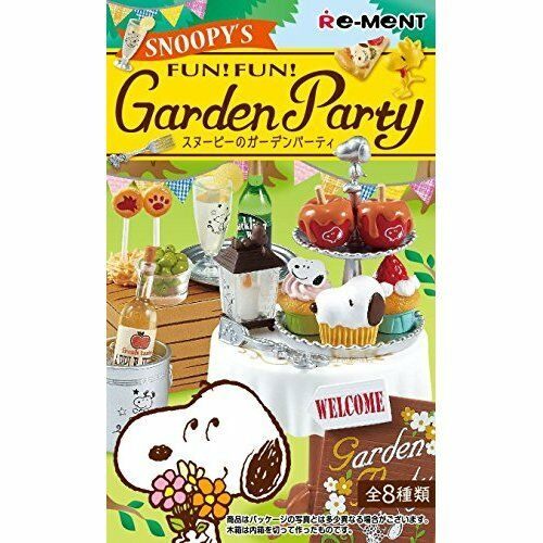 New Re-ment Peanuts Snoopy's Fun Fun Garden Party All 8 types Full Set Japan
