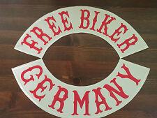 Free Biker-Germany Patch Banner Backpatch XL Set je 39x8,7 cm-Biker-Kutte-MC