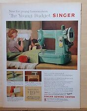 1959 magazine ad for Singer Sewing Machines - Young Budget Singer - The Spartan