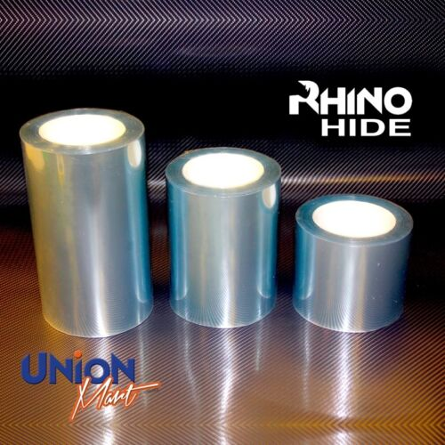 RHINO HIDE Clear Helicopter Bike Frame Protection Tape Vinyl 2mtr x 150mm
