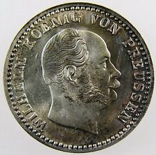 GERMANY. Prussia. Silver 2-1/2 Groschen, 1872 A. Toned Uncirculated. KM# 486.