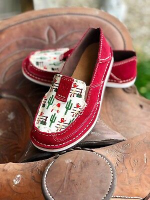 Ariat Women's Vintage Cowgirl Print Cruiser Slip On Shoes Moc Toe