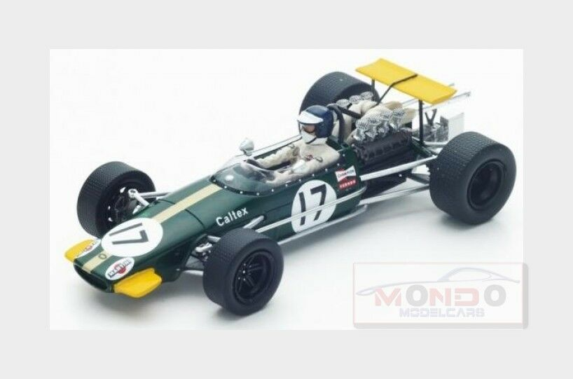 Brabham Brabham Brabham F1 Bt24 Caltex  17 German Gp 1968 K.Ahrens vert jaune SPARK 1 43 S4780 450009