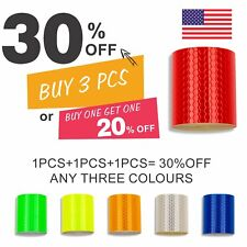 3m Car Truck Reflective Safety Warning Self Adhesive Roll Tape Sticker Decal