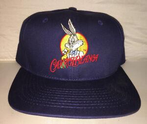 2d8862a9a46d9e Vtg Bugs Bunny Carrotblanca Snapback hat cap rare 90s Cartoon space ...