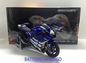 Valentino Rossi minichamps 1/12 Yamaha Yzr M1 2007 Test Jerez 122073156 1007 Pz