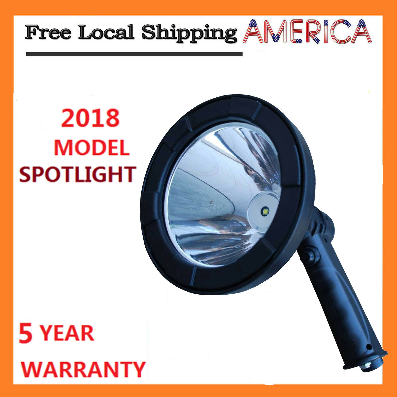 600W LED Cree 12v Rechargeable Spotlight Hunt Handheld Spot Light Camp Fish Lamp