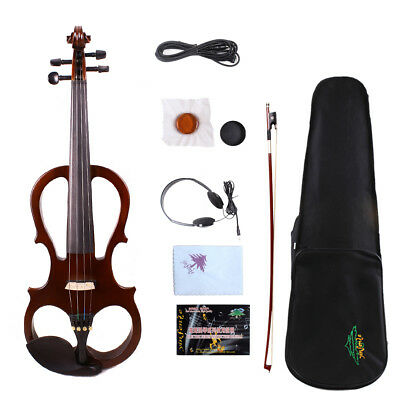 Orchestral Steady Yinfente 15.5inch Electric Silent Viola Natural Wood Free Case/bow/rosin #el5 Violas