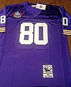 c71795940 MINNESOTA VIKINGS  80 CHRIS CARTER HOME JERSEY SIZE LARGE WITH HOF ...