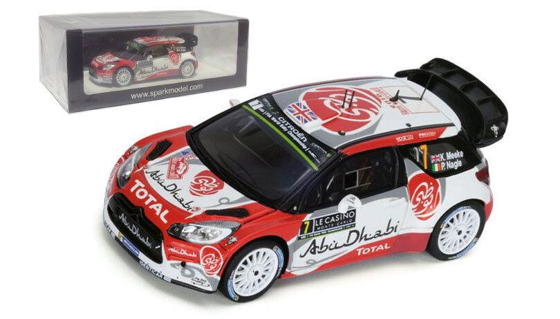 Spark S4968 Citroen DS3 WRC 'Abu Dhabi' Monte Carlo 2016 - Kris Meeke 1 43 Scale