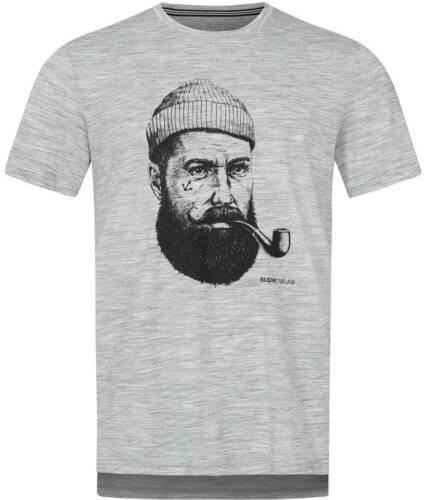 Shirt Tshirt Oberteil SUPER.NATURAL GRAPHIC T-shirt 2020 ash melange//jet black