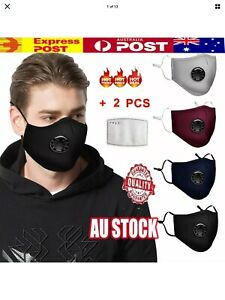 Anti Air Pollution Face Mask Respirator and 2 Filters P2.5 Washable Adjustable