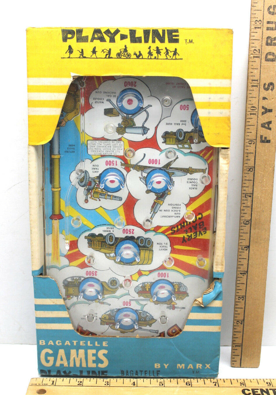 Vintage Play-Line Louis Marx Toys Borsaatelle Games Bazooka Pinball Military USA
