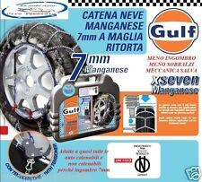 Catene Da Neve Gulf Al Manganese 7mm Gr.65 Citroen C3 (2002) Gomme 185/60R15