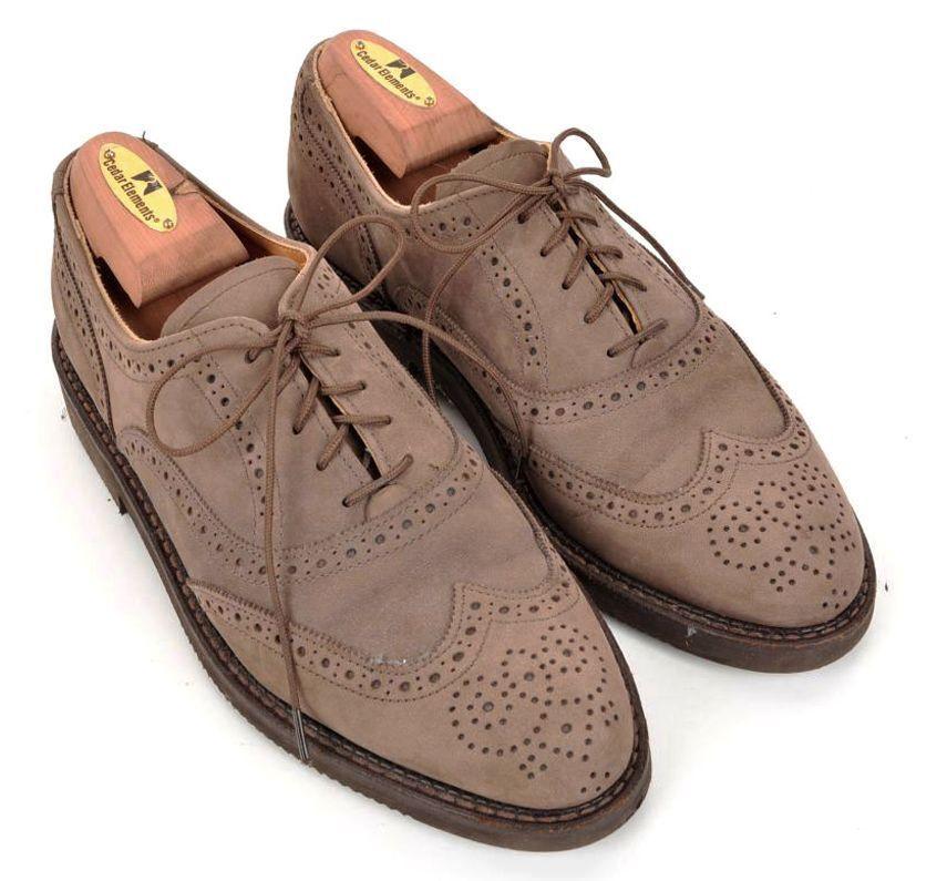 Zapatos De Vestir COLE HAAN tabaco marrón gamuza cuero punta del ala para Hombre Suela De Goma - 7.5 D