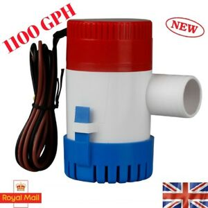 1100GPH-Marine-Bilge-Pump-Submersible-Water-Pump-12V-Electric-Yacht-Boat