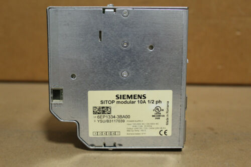 Siemens 6EP1334-3BA00 SITOP Modular 10A 1//2 ph Power Supply