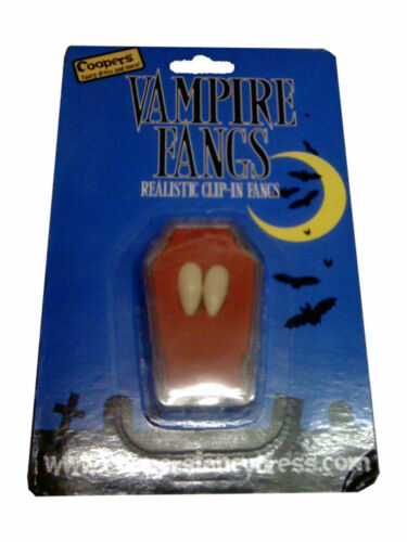 Vampire Fangs Custom Caps Dracula clip in Teeth Halloween Costume Thermal Putty