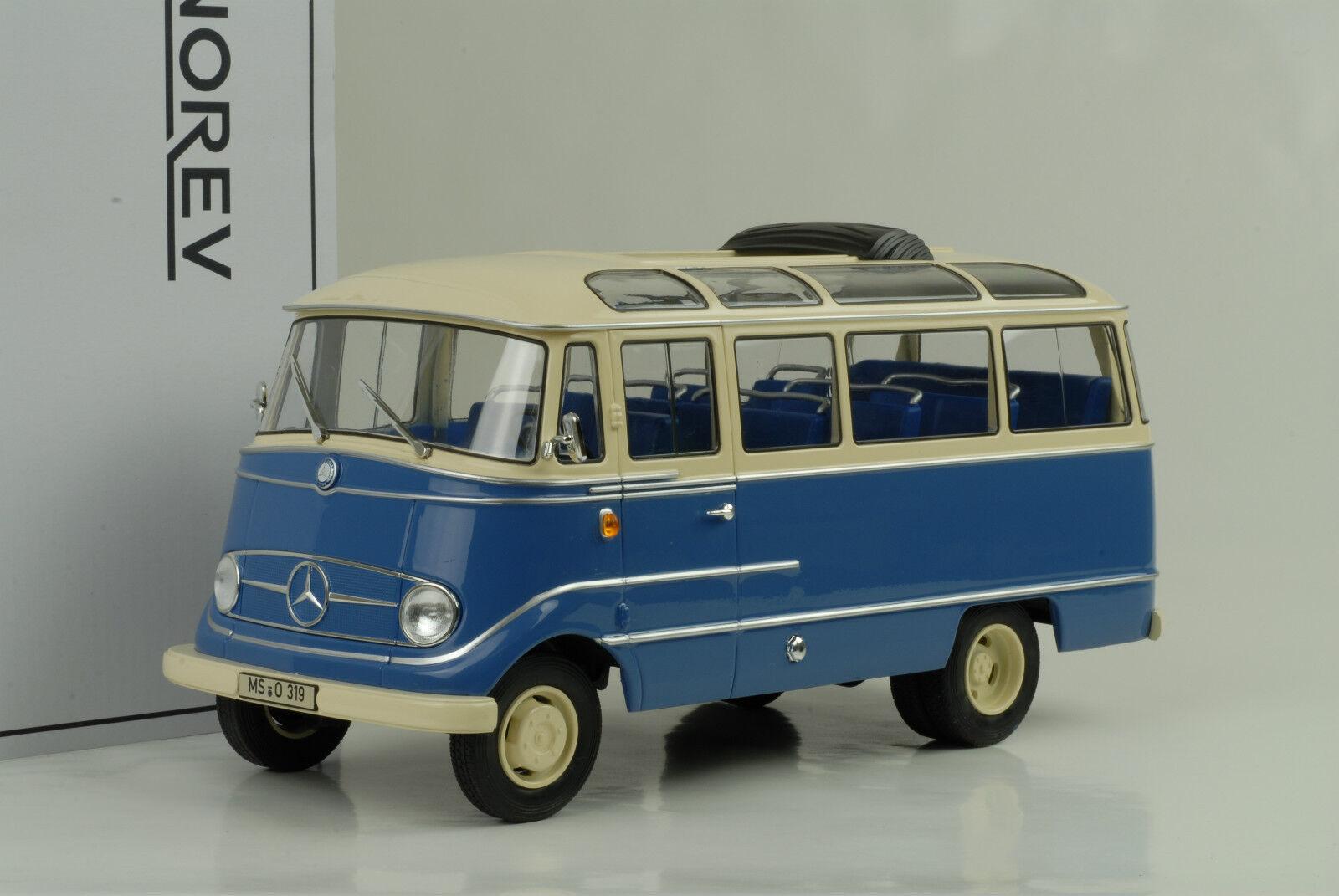 1960 Mercedes-Benz O319 Bus bluee Cream 1 18 Norev