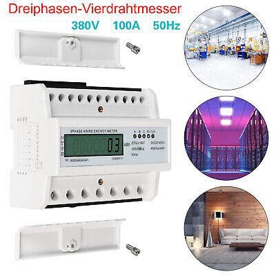 LCD-Drehstromzähler Geeicht Für DIN Hutschiene 3-Phasen 4-Draht Stromzähler 50Hz