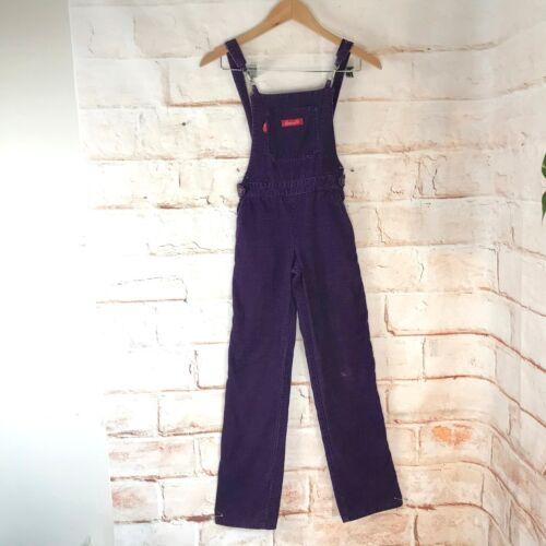 Vintage 70s 80s Girls 8 Chemin De Fer Purple Cord… - image 1