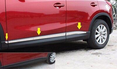 S.steel Body door Side Molding Trim Cover Chrome Mazda CX5 2013 2014 2015 2016