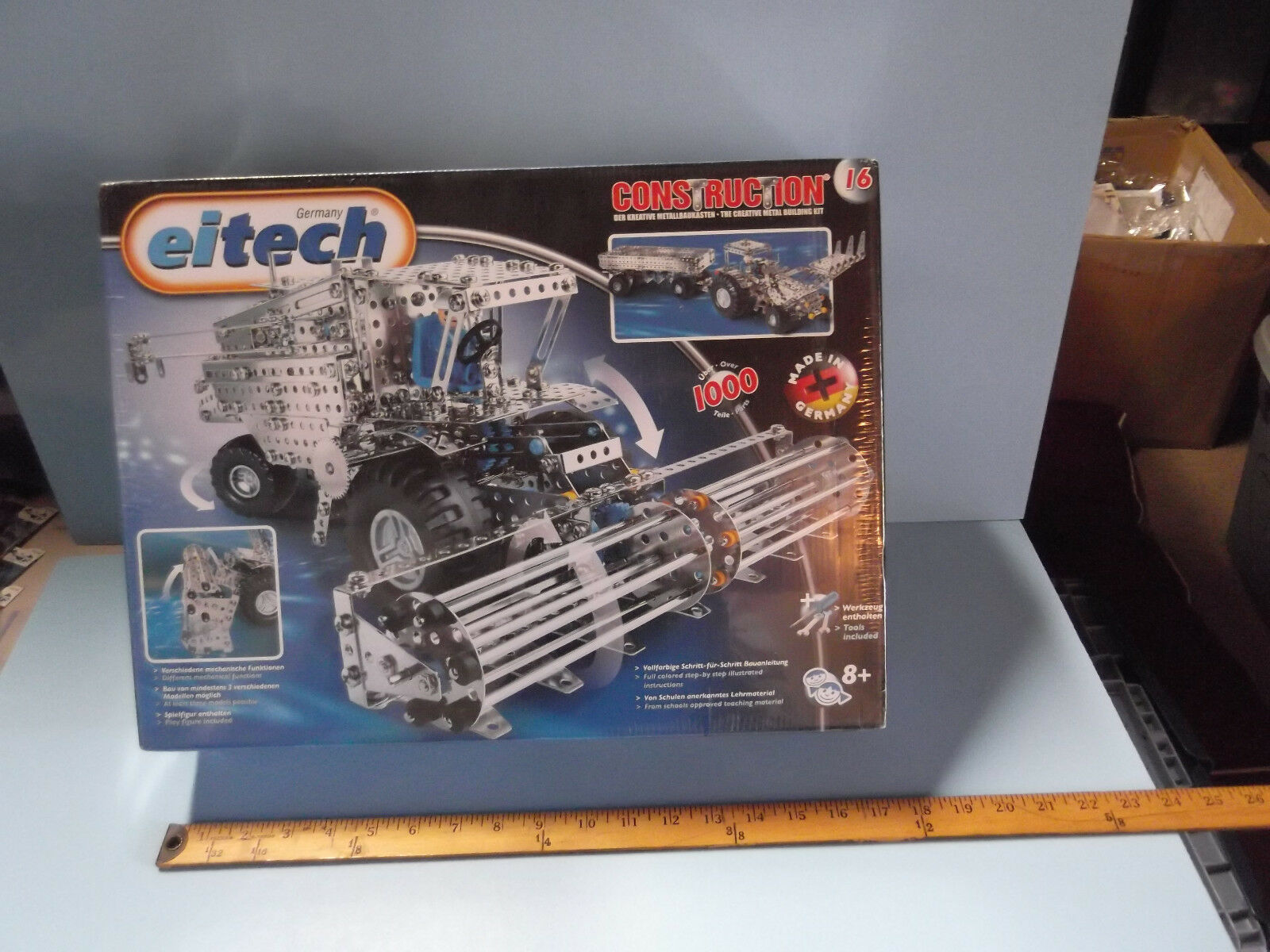 Eitech Metal Construction Sets Harvester Tractor w Figure Over 1000 Pieces