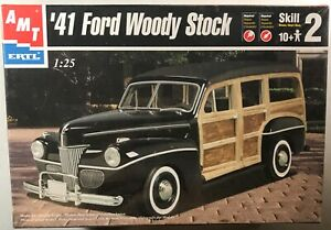 AMT-ERTL-1941-FORD-WOODY-STOCK-1-25-MODEL-KIT-30051-SEALED