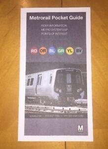 Washington Metro Subway Map.2016 Washington Metro Subway Map Wmata Ebay