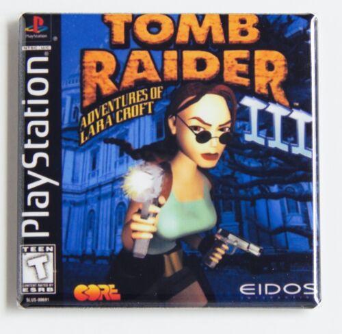 Tomb Raider 3 FRIDGE MAGNET video game box