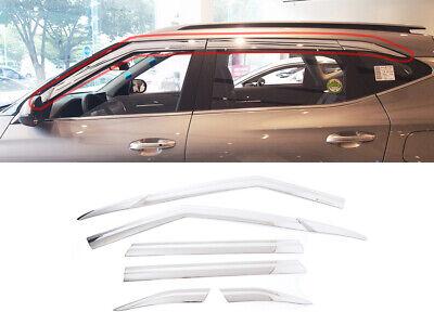 Sun Chrome Side Window Visor Vent Guards Rain for Kia Sorento SUV 2016-2018
