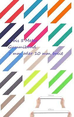 2-4 Meter Gummiband 6mm 16 Farben Gummilitze Gummi Wäschegummi elastisch