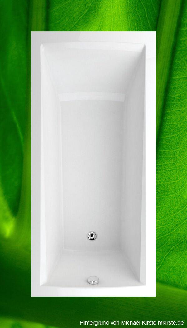 Badewanne 170x80 cm Trend + Wannenträger + Ablauf Wanne 80x170 Komplettset