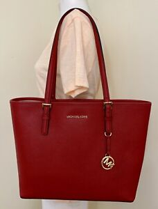 c14db17c1265 Image is loading Michael-Kors-Jet-Set-Travel-Medium-Carryall-Leather-