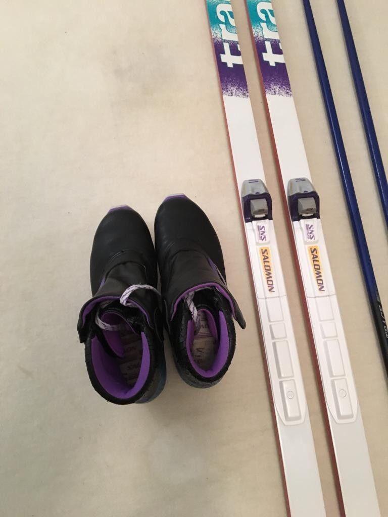 Langlaufski 2.10 m lang, Track Olympic Salamon