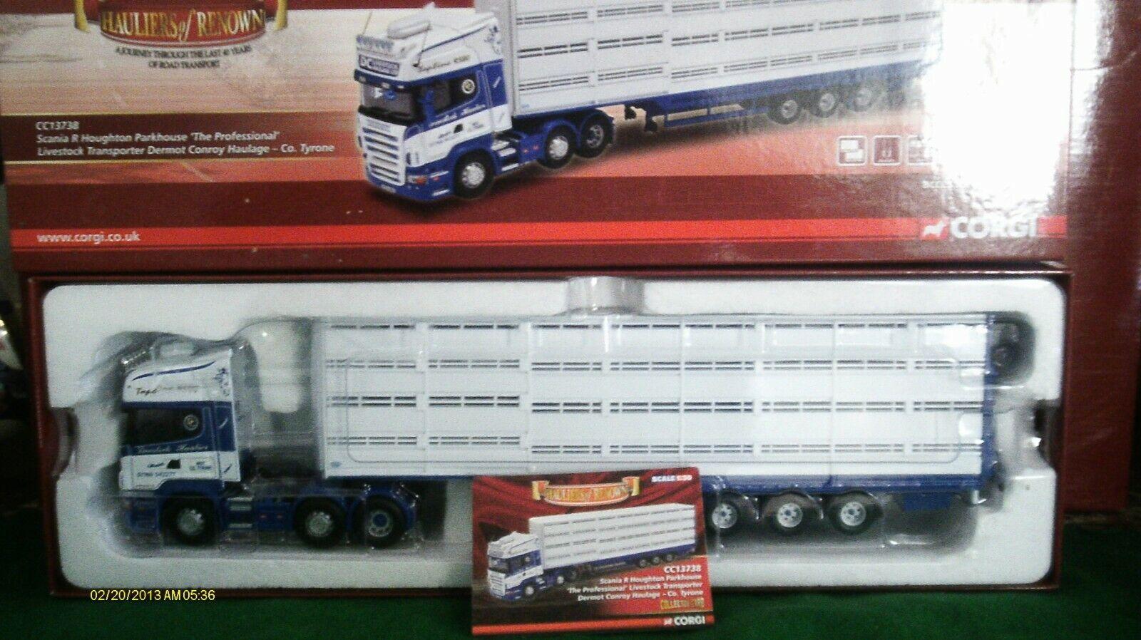 Corgi Camión Moderno Pesado CC13738 Scania R ganado Dermot Conroy 1 50