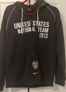 74ef63382a Nike Men s Blue US National Soccer Full Zip Hoodie Men s Size Small ...