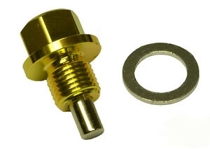 M14x1.5 GOLD Galant FTO Magnetic Oil Sump Drain Plug Challenger