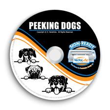 Peeking Dogs Clipart Vector Clip Art Vinyl Cutter Plotter Images Eps Graphics Cd