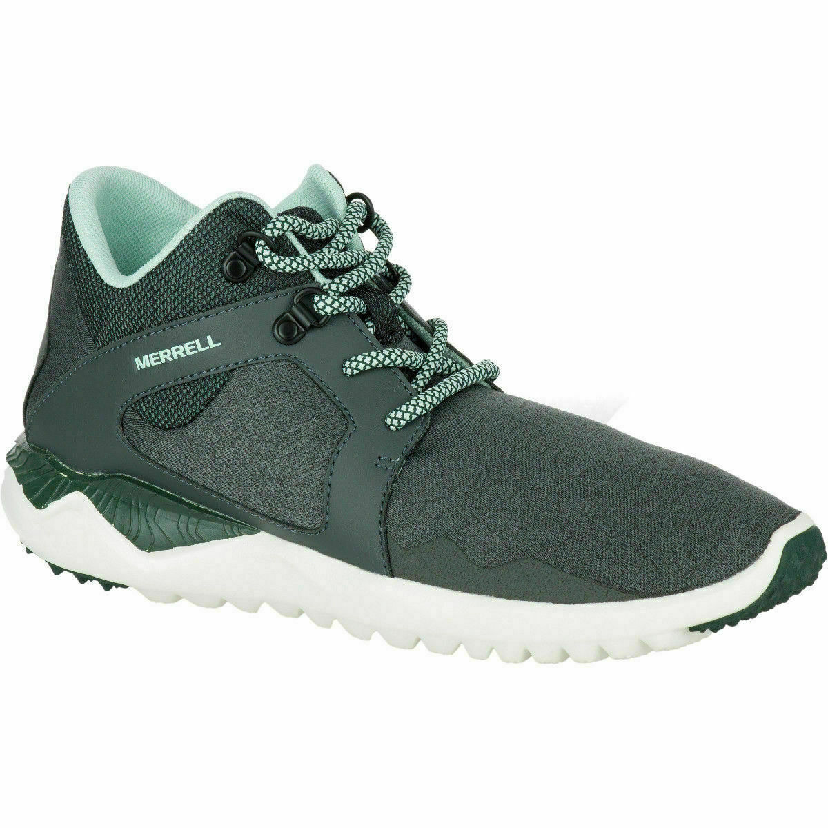 LADIES MERRELL 1SIX8 MID SEDONA SAGE RUNNING TRAINERS SPORTS CASUAL SHOES 3-8