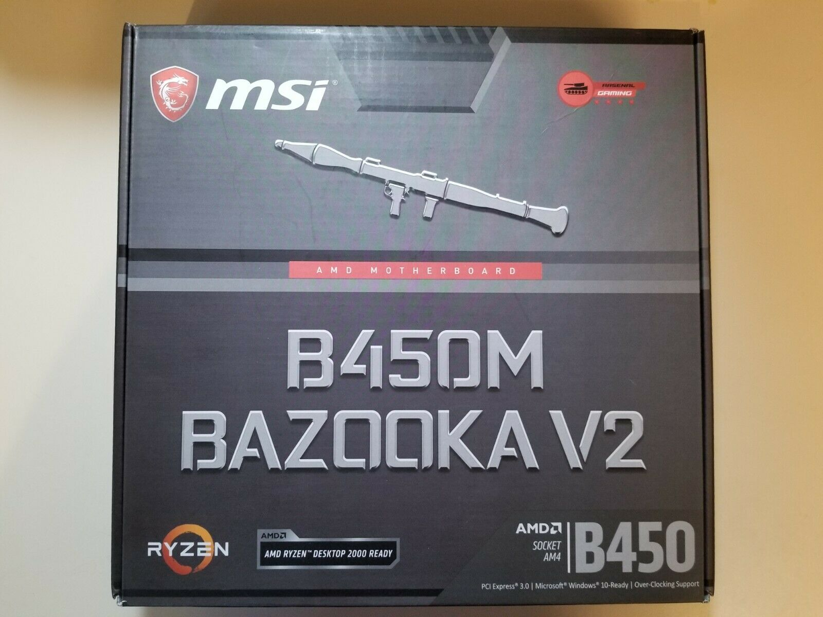 Msi 226809 Mb B450mbazov2 B450m Bazooka V2 Amd Am4 B450 64gb Ddr4 Pcie M-atx