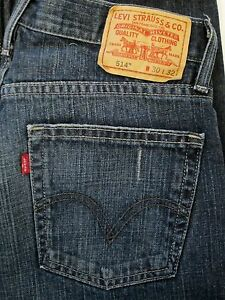 514 Excellent 30x32 Hommes Etat Distressed Taille Slim Jeans Levi Straight U1xOdqRwCw