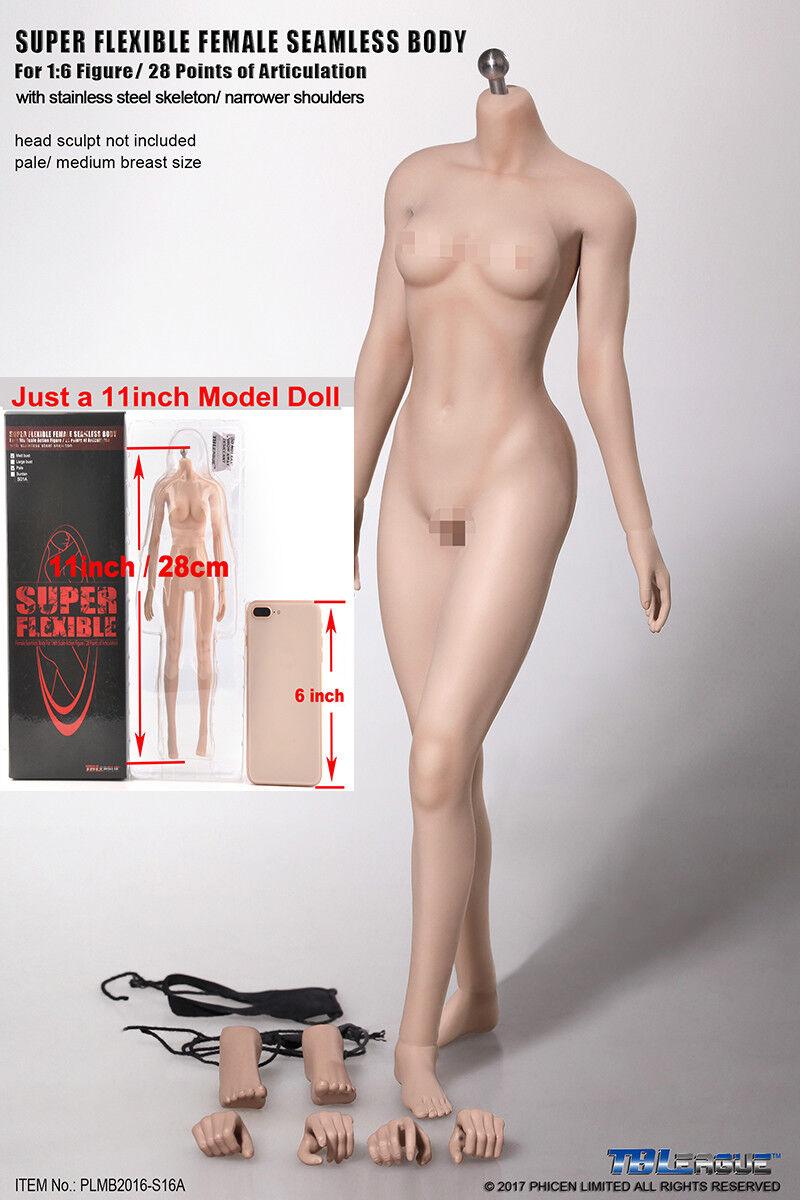 Tbleague 1 6 Mid busto figura femenina Modelo de cuerpo transparente pálido Juguete PLMB 2016-S16A