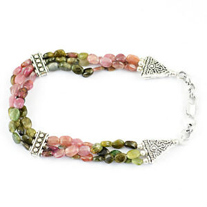 GORGEOUS-TOP-DEMANDED-128-95-CTS-NATURAL-WATERMELON-TOURMALINE-BEADS-BRACELET