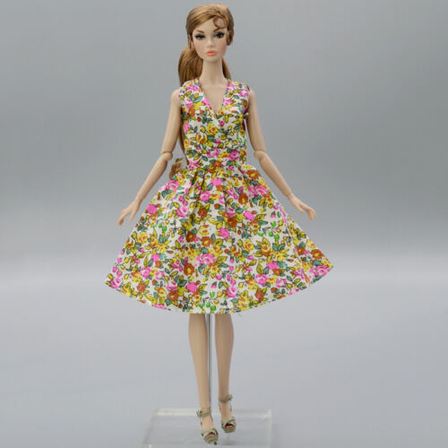 "Summer Flower Floral Dress For 11.5/"" 1//6 Doll Outfits Fashion Doll Clothes Gown"