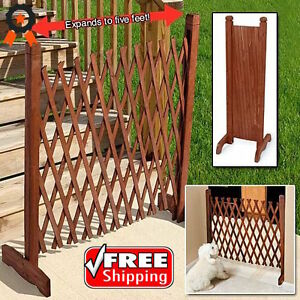 Image Is Loading Expanding Wooden Instant Fence Portable Screen Pet Gate
