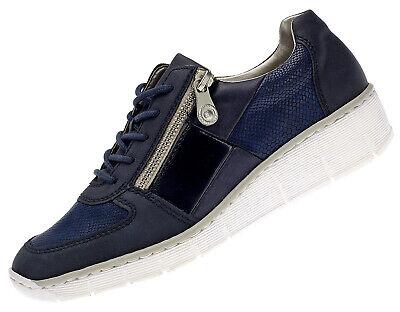 Rieker Damen Sneaker Freizeitschuhe Halbschuhe Schnürschuhe Neu 5371414 Blau 39 | eBay
