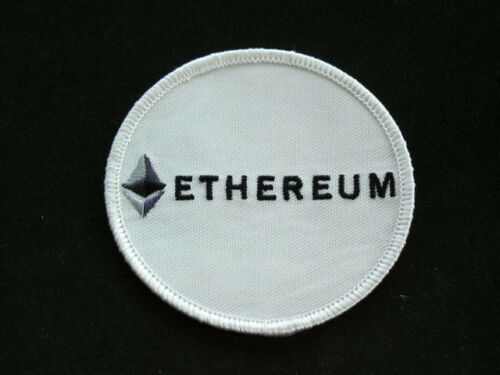 """ETHEREUM PATCH 3/"""" Round Embroidered Iron-on Crypto Badge"""
