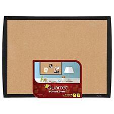 "Mead Quartet Cork Bulletin Board, 17""x23"", Black Frame (33271-BK)"